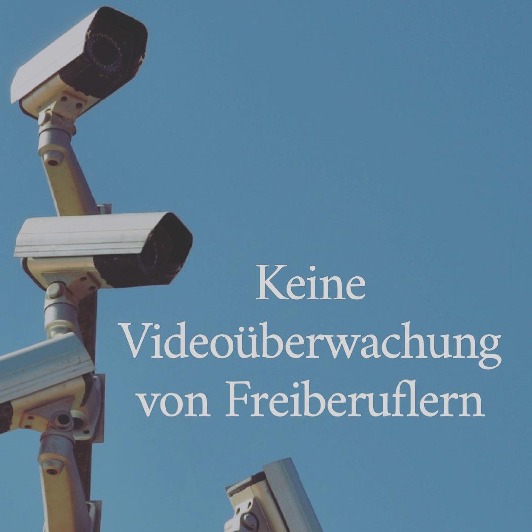Keine Videoüberwachung von Freiberuflern